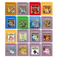 Pokemon Gold Silver Yellow Red Blue Green Crystal  Gameboy GBC USA