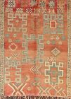 Antique Geometric Tribal Moroccan Oriental Area Rug Hand-knotted Classic 6'x8'