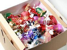 (100) hand blown Czech glass bell Christmas tree ornaments baubles decorations