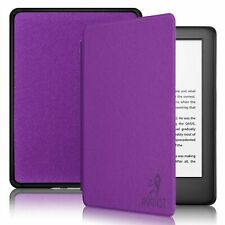 August Genuine Thin Case Cover For Amazon Kindle with Light in Purple