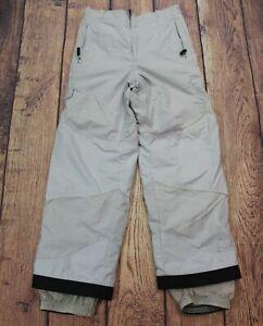 Unisex Kid's Obermeyer Snowboarding Pants Gray off White Size 18 Junior Extended