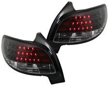 LED Rückleuchten Heckleuchten Klarglas Peugeot 206 Limousine Bj. 98-06 Schwarz