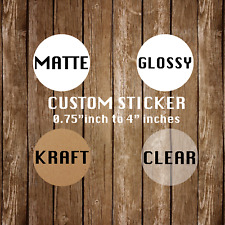 Custom Stickers | Clear Custom Stickers | Clear Circle Stickers