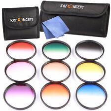 Kit 9pcs Filtre ND Couleur Gradué + Tissu de Nettoyage + Sacoche / Diamètre 77mm