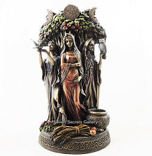 Maiden Mother Crone Statue Figurine Pagan Triple Moon Goddess Altar Ornament NEW