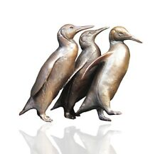 More details for bronze penguin group sculpture - limited edition 150 - michael simpson.