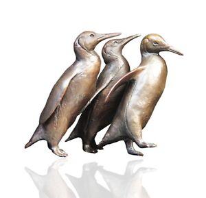 Bronze Penguin Group Sculpture - Limited Edition 150 - Michael Simpson.