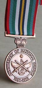 Australia - Anniversary Of Australian National Service Full Size Medal 1951-1972
