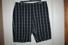 "Jones New York - Black/White Checked Bermuda Shorts - 11"" inseam - Size 14"