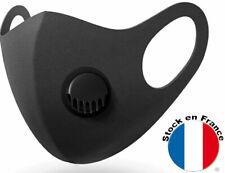Masque Protection Tissu Lavable Avec Valve Filtre Particule de 2.5 Micron PM2.5