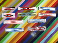 vtg 1970s 1980s G&S Gordon and Smith skateboards sticker - classic bar logo