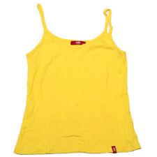 Esprit EDC  Womens Summer Yellow Singlet Spaghetti Strap Top *Size XS