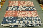 Antique Samuel Meily 1846 Mansfield Richmond Ohio Bed Coverlet~82' By 71'~BEAUTY