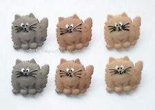 Jesse James Dress it up Buttons FAT CATS 5830 - 2 Packages of 6 Buttons each