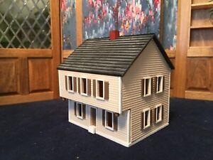 "G. & M. Gudgel Micro Miniature Dollhouse 3.5""x3"" Top Opens Rooms Inside 1:144"