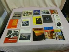 Lot of 16 Nikon & Camera Books Field Guide, How to Photograph, Darkroom Ect.