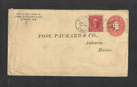 1903 FOSS PACKARD & CO AUBURN ME ADVERTISING COVER US STAMPED ENVELOPE FONT #1