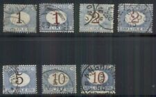 ITALY #J13/20 1-10lira Postage Dues, brown & magenta numerals, used, Scott $142