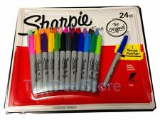 24 SHARPIE Coloured Permanent Marker Pen Sharpies Bulk Texta Fine Point Set