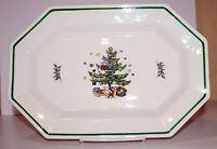 NIKKO CHRISTMASTIME Christmas Tree China Serving Set Vegetable  Platter  Creamer