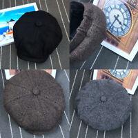 plat les hommes ivy laine tweed béret chapeau - onnithorynque chapeau casquette