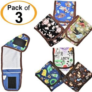 3pcs - SET Puppy Dog BELLY BAND Wrap Diapers For MALE Boy Reusable Washable