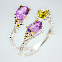 Charming Design jewelry Natural Amethyst 925 Sterling Silver Ring / RVS99