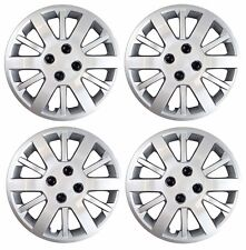 "NEW 2009-2010 Chevy COBALT 15"" Bolt-on Hubcap Wheelcover SET of 4 Silver"