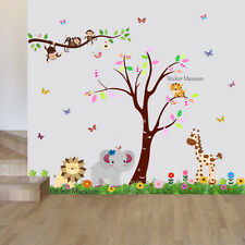 Monkey Animal Wall Stickers Jungle Zoo Safari Nursery Baby Kids Room Decal Art