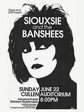 "SIOUXSIE AND BANSHEES CULLEN 16"" x 12"" Photo Repro Promo  Poster"