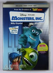 Monsters Inc. DVD Deluxe Two Disc Set including Poster FREE POST