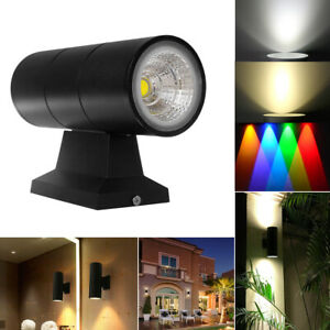 6W / 10W COB Up Down Double Head LED Wall Light IP65 Outdoor Sconce Lamp LTW UK