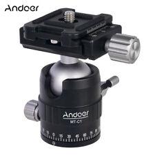 Andoer MT-C1 Compact Size Panoramic Tripod Ball Head Adapter 360° Rotation L3E8