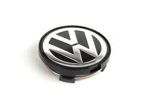 """GENUINE OEM 15"""" 16"""" Alloy Wheel Center Hub Chrome Black Cap VW Passat B5.5 01-"""