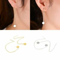 New Women Long Chain Gold Silver Ear Threader Drop Dangle Earrings Jewelry Gift