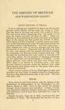 1915 BRENHAM and WASHINGTON County, Texas TX, History & Genealogy DVD CD B17