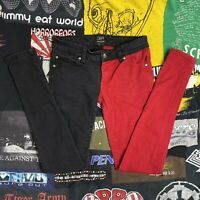 Tripp NYC Black And Red Skinny Jeans Size 5