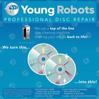 100 Video Game, Gamecube, CD DVD Blu-Ray Disc Repair Service - Remove Scratches