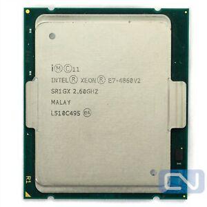Intel Xeon E7-4860 v2 2.6 GHz 30 MB 8 GT/s 12 Core SR1GX Clean Pull Server CPU