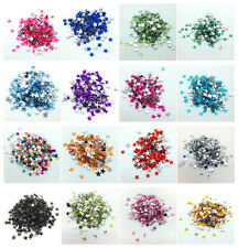 6mm 10mm 15mm STARS Resin Rhinestone Gems Flat Back Crystal Beads Pick color
