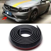 Universal Carbon Fiber Front Bumper Lip Splitter Chin Spoiler Body Kit Trim