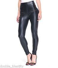 """Crossdress Unisex Half Faux Leather Full Length Leggings Sissy Panty 28"""" - 34"""""""