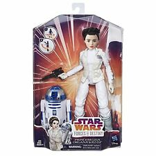 "Star Wars Forces of Destiny ~ 11"" PRINCESS LEIA & R2-D2 ACTION FIGURE/DOLL SET"