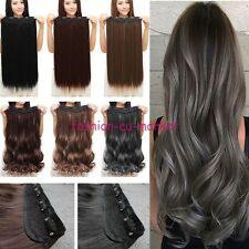 One piece hair extensions for women ebay real thick one piece clip in full head hair extensions extension as human hair pmusecretfo Images