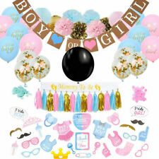 Gender Reveal Party Supplies, Baby Shower Boy or Girl Reveal Kit (76 Pieces)