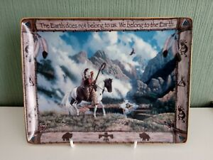 Franklin Mint Native American Indian We Belong To The Earth Plate Ltd Edition
