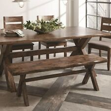 Knotty Nutmeg Rustic-Country Dining Bench by Coaster 121183