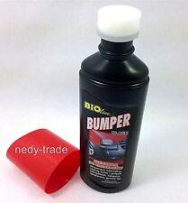 Ribete negro Cera Líquida restaura limpia parachoques de goma ajuste plástico auto van