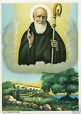 Catholic Print Picture ST. BENEDICT Benedictine Monk  ready to be framed