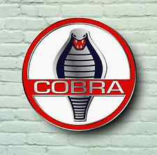 AC COBRA BADGE LOGO 2FT LARGE GARAGE SIGN WALL USA BRITISH CLASSIC CAR WORKSHOP